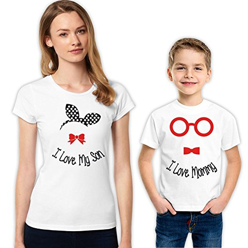 I love My Son and I Love My Mommy Mother and Son Matching Shirt Set 279 XS 4-5 yrs