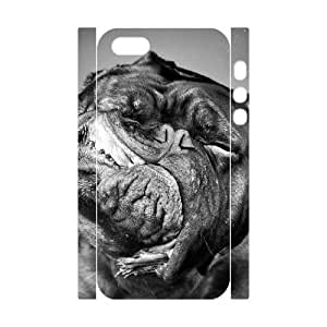 3D Bumper Plastic Customized Case Of Cute Dog for iPhone 5,5S