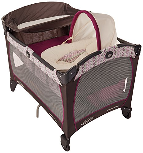 Nyssa Graco Pack N Play Playard with Newborn Napperstation DLX