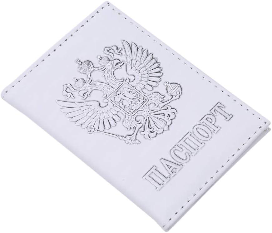 EH-LIFE Passport Holder American Passport Embossed White Card Cover Travel Storage Supplies Unisex Black