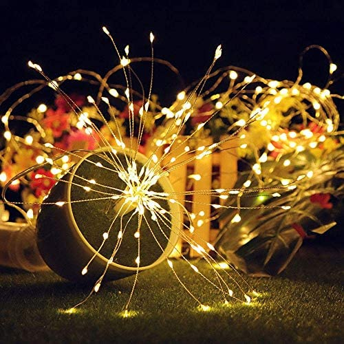 DIY Decorative Lights LED Light Bar Holiday Lights Remote DIY Firework Fairy String Christmas Light 100LED Battery Powered 8 Modes IP65 13 Keys