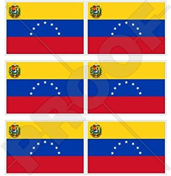 Venezuela Bandera de estado EX (7 Star) venezolana. América del Sur 40 mm