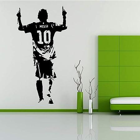zxddzl Dibujos Animados Messi fútbol Tatuajes de Pared Sala de ...