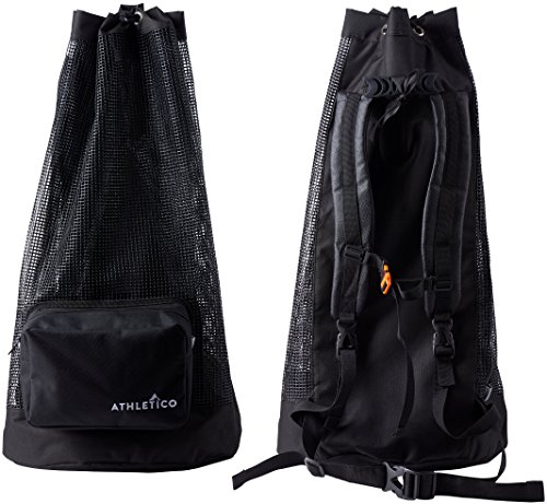 Athletico Scuba Diving Bag - Mesh Travel Backpack for Scuba Diving and Snorkeling Gear & Equipment - Dry Bag Holds Mask, Fins, Snorkel, and More Photo #3