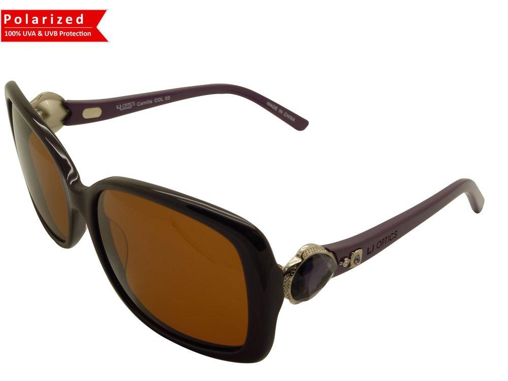 High quality product CAMILLA COL03 Polarized lens DARK AMETHYST Designer style Sunglasses