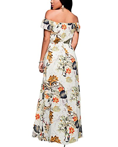 BIUBIU-Womens-Off-Shoulder-Floral-Rayon-Party-Split-Maxi-Romper-Dress-S-3XL