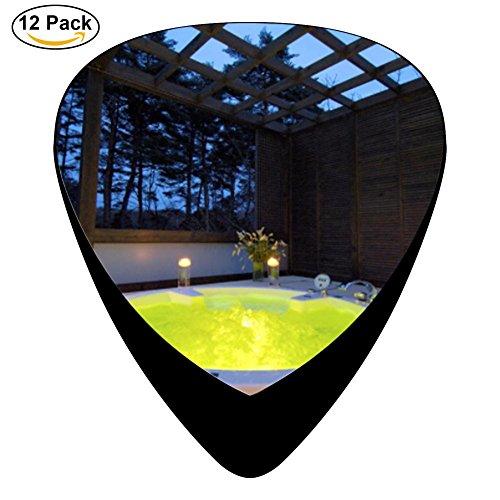 Roeker Hot spring Premium Picks Sampler - 12 Pack Includes Thin, Medium & Heavy - Hut Gauge