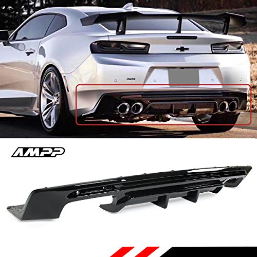 Sport Turbo Rs Rear Bumper Black Lip Diffuser For 2016: Compare Price: Rear Bumper Camaro