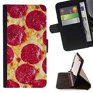 Momo Phone Case / Flip Funda de Cuero Case Cover - Salchichones italiana de Nueva York Food - Huawei Ascend P8 (Not for P8 Lite)