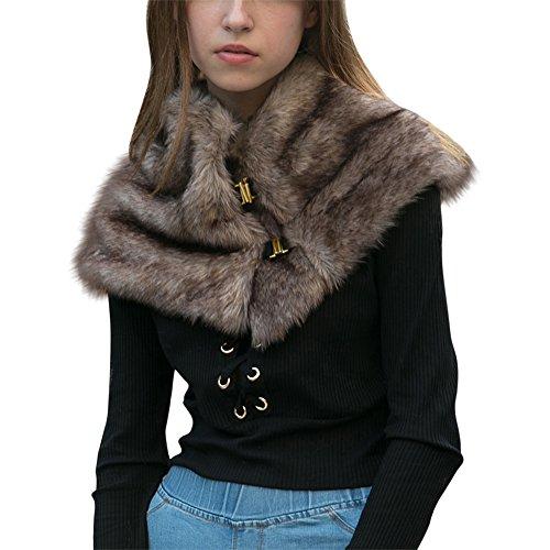 Faux Fur Long Scarf Warm Stole Wrap Cape Sweater Shrug Shawl for Wedding Dress from Zwingtonseas