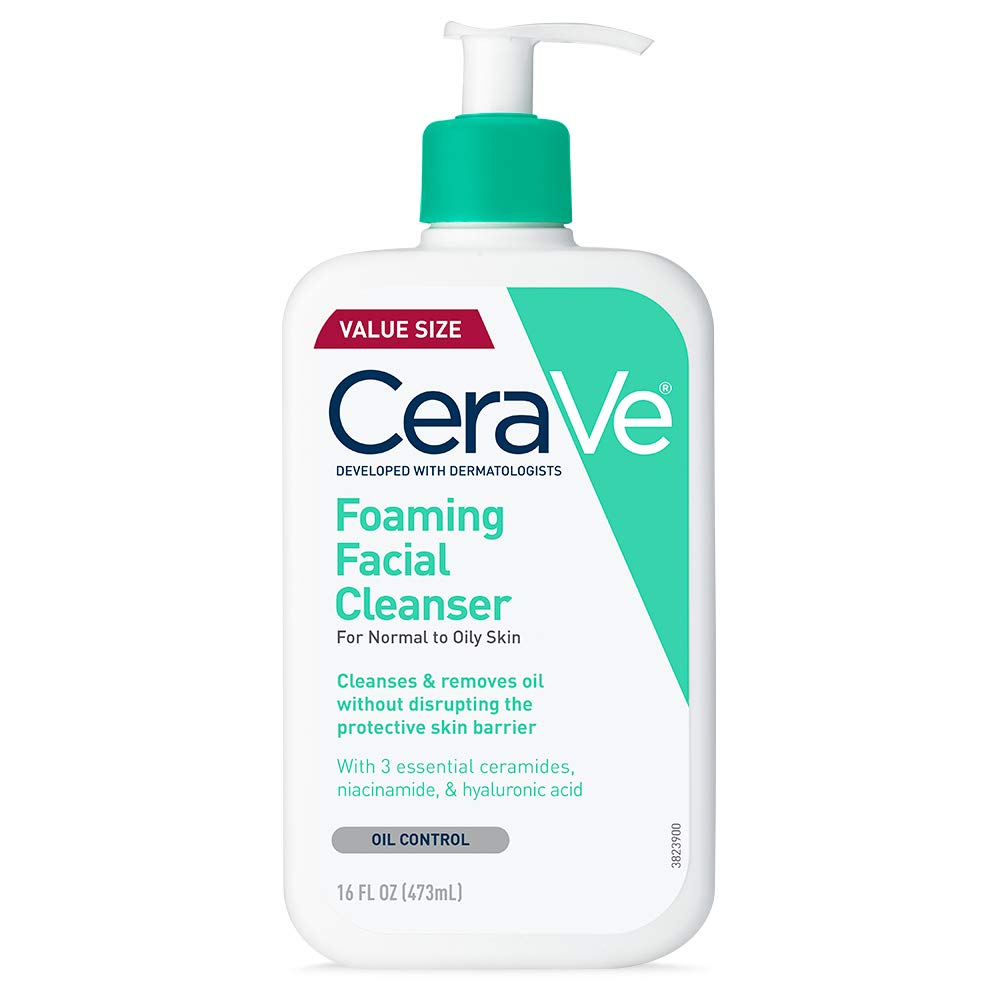 CeraVe Foaming Facial Cleanser | Makeup Remover and Daily Face Wash for Oily Skin | 16 Fluid Ounce: Beauty