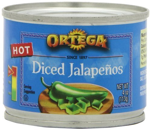 (Ortega Diced Jalapenos, 4-Ounce Cans (Pack of 4))
