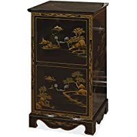China Furniture Online 2-Drawer Chinoiserie Scenery Design File Cabinet