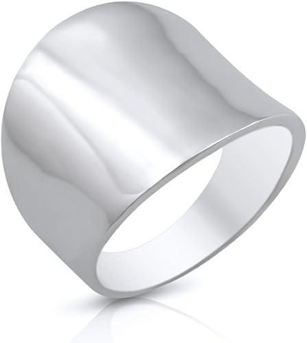 22mm//69 nuevo anillo de acero inoxidable en plata acero inoxidable 4mm de ancho anillo