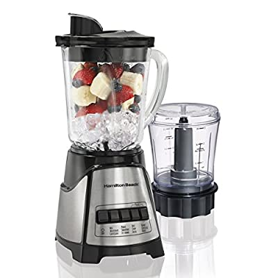 Hamilton Beach 58149 Black Blender/ Food Chopper Mess-free spout
