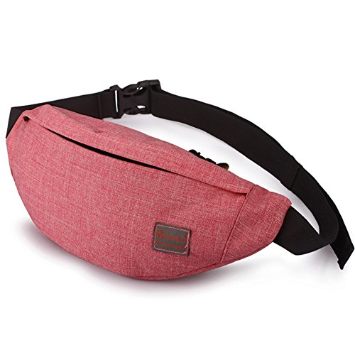 Tinyat Travel Fanny Bag Waist Pack Sling Pocket Super Lightweight For Travel Cashier's box, Tool Kit T201, Red