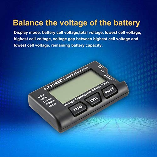 Wikiwand G.T.Power LCD Voltage Capacity Checker for LiPo NiMH Nicd Battery Balance View by Wikiwand (Image #3)