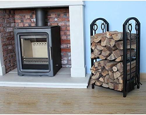 フックほうきスペードプライヤーブラックと一緒に家、暖炉の薪ツールコンビネーション暖炉アクセサリ屋外薪フレームに適した薪フレーム