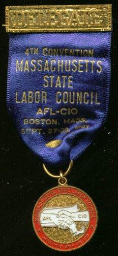 Massachusetts Labor Council Convention Delegate pin '61 ()