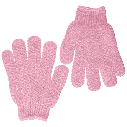 Hydro Exfoliating Gloves | Bath Gloves | Bath Scrubber | Dead Skin Cell Remover (Pink) -