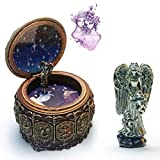 HANYI Vintage Mechanical Classical Collectible Translucidus Music Box with Twelve constellations, Plays Castle in the Sky - Gemini