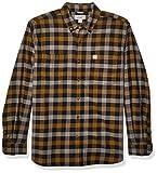 Carhartt Men's Rugged Flex Hamilton Plaid Flannel Shirt (Regular and Big & Tall Sizes), Black, X-Large