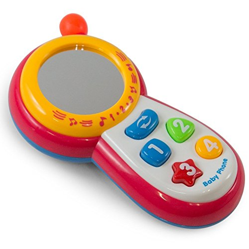 Baby Cell Phone Toy,play phone, telephone for toddlers, Unlimited Music & Lighting With Small (Handheld Learning Remote)