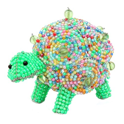Grass Beadworx (Grass Roots Creations Colored Turtle Nightlamp Beadworx Sculpture, Multi)