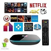 Q-Box Android 5.1 Tv Box Amlogic S905 Quad Core 2G/16G 4K Bluetooth 4.0 2.4G/5G Dual WIFI 1000M Gigabit Streaming Media Player