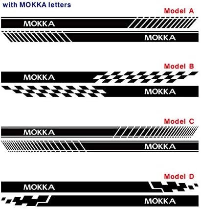 FSXTLLL Auto Seitenstreifen Seitenaufkleber Aufkleber f/ür OPEL Mokka X
