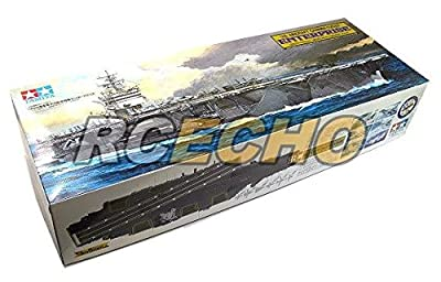 RCECHO® Tamiya Military Model 1/350 War Ship US Aircraft Carrier CVN65 ENTERPRISE 78007 with RCECHO® Full Version Apps Edition