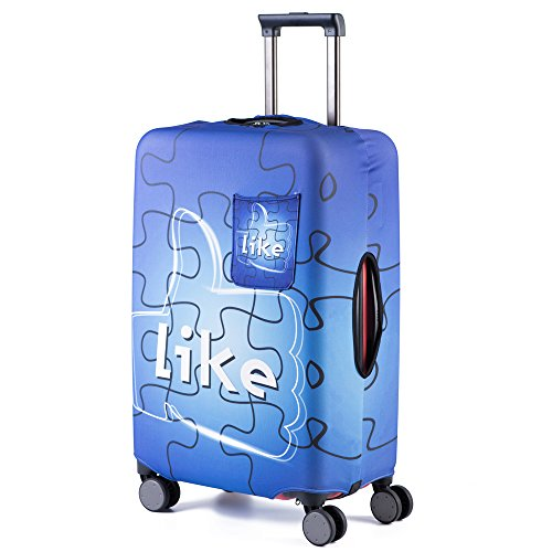 Travel Luggage Cover Dustproof Bag - HoJax Suitcase Protective Cover Fit for 19-21 Inch Luggage (Small, Puzzle)