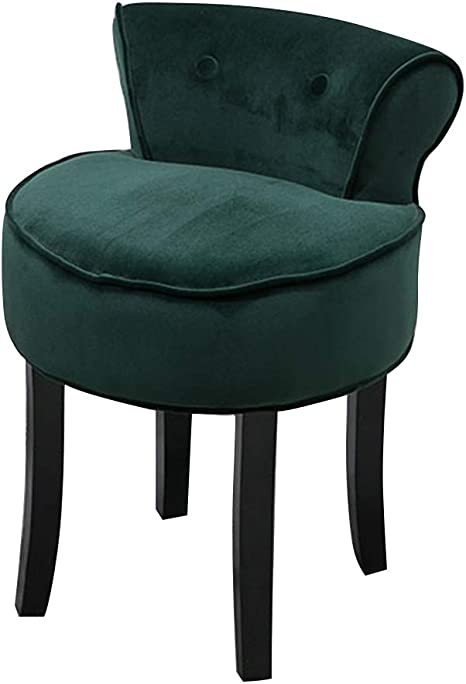 For Dressing Room//Living Room//Bedroom//Restaurant Color : A IAIZI Fan Back Chair//Dressing Chairs And Stools//Makeup Stool//Baroque Piano Chair//Padded Bench Chair Solid Wood Legs//Upholstered