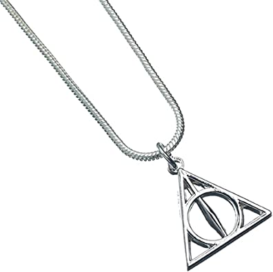 Harry Potter Deathly Hallows Chain Necklace with Triangle Metal Pendant USA SHIP