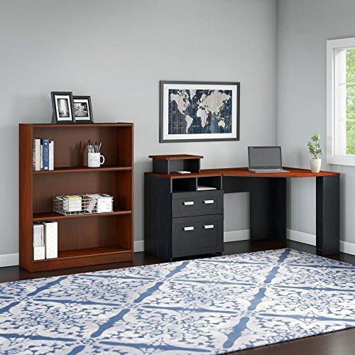 Wheaton Reversible Corner Desk with Bookcase