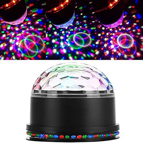 Cut Laser Roof (Strobe Lights Disco Lights Sound Activated DJ Lighting for Home Room Dancing Show Birthday Xmas Parties Karaoke Pub - 6 Colors)
