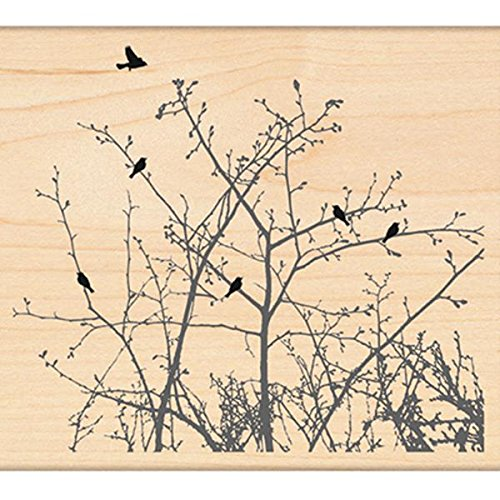 - Penny Black 4271L Winter Ledge Wood Mounted Rubber Stamp