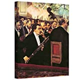ArtWall 'The Opera Orchestra' Gallery-Wrapped Canvas Artwork by Edgar Degas, 20 by 24-Inch