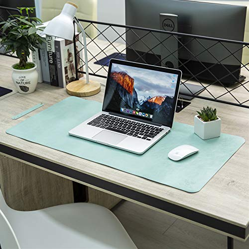 "Yikda Extended Leather Gaming Mouse Pad/Mat, Large Office Writing Desk Computer Leather Mat Mousepad,Waterproof,Ultra Thin 1.2mm - 31.5""x15.7"" (Mint Green)"