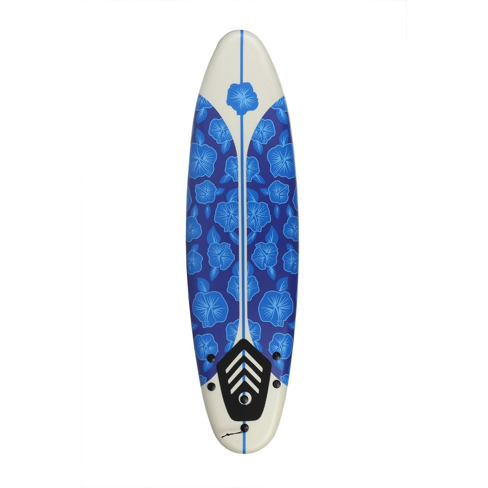 North Gear 6ft Surfing Thruster Beach Surfboard Foam (Blue/White) by North Gear