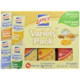 Lance Cracker Sandwiches On-The-Go Packs - Captain's Choice Variety Pack - 1.5 oz - 8 Count by Lance