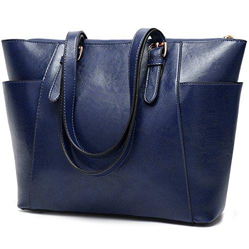 Unis Les à Sac blue à D'huile Cuir épaule Sac Europe à États Main Vintage Lady Main En Bandoulière Mode Cire Et De Sac qBwHxR0z0