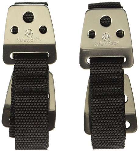 Safety Baby Metal Furniture / TV Straps - Earthquake Proof - Bolts & Hardware Included (2 Pack)