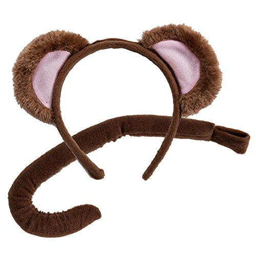 Animal Ears & Tail Set - Monkey Kids Unisex Jungle Costume]()