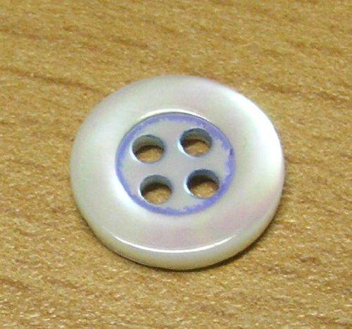 5 Hemden Knöpfe Echt Perlmutt 11 mm eisblau