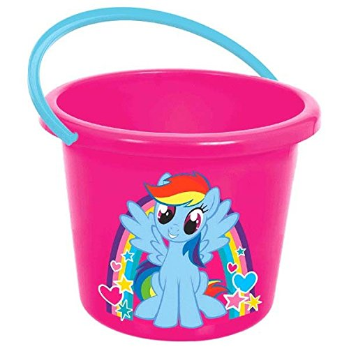 My Little Pony Treat Bags (Amscan My Little Pony Party Jumbo Favor Bucket, Hot Pink/Light Blue, 7