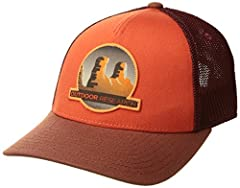 The towers Trucker cap - with its snap closure, curved brim, and desert towers climbing graphic - is at home in the backcountry or in your backyard. Breathable, lightweight, and sporting a mesh trucker-style back, this is one Trucker cap you'...