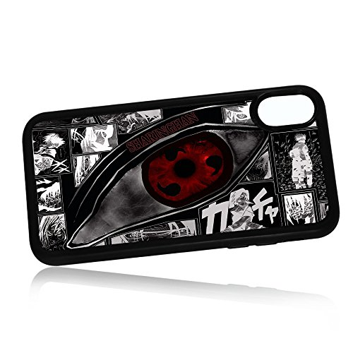 (For iPhone X) Durable Protective Soft Back Case Phone Cover - A11095 Naruto (Sharingan Apple)