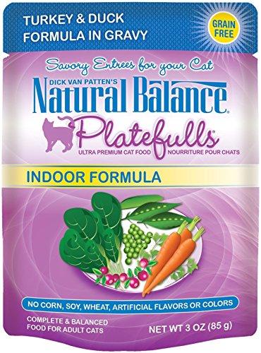 Natural Balance Platefulls Indoor Turkey & Duck Formula in Gravy Cat Food - 24x3 oz