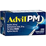 #7: Advil PM (120 Count) Pain Reliever / Nighttime Sleep Aid Caplet, 200mg Ibuprofen, 38mg Diphenhydramine